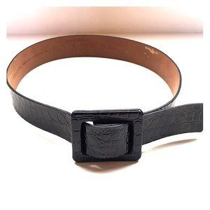 Steven Madden black embossed belt